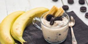 Reteta Frozen Yogurt cu banane si oreo
