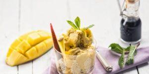 Reteta Frozen Yogurt cu mango si menta