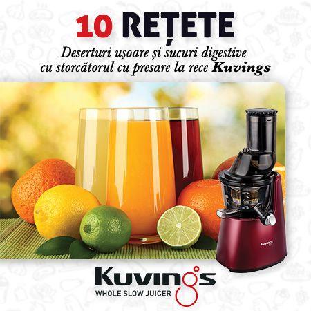 Top 10 reţete: deserturi şi sucuri digestive la Kuvings