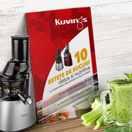 Top 10 reţete:  detox și nutritive la Kuvings